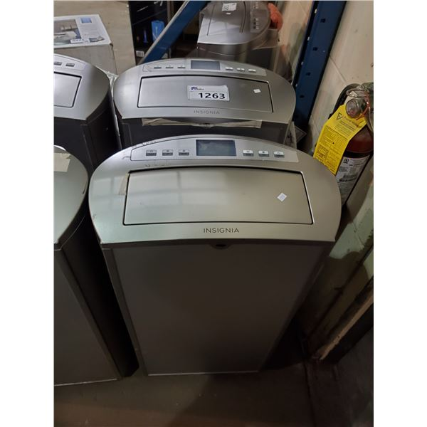 2 INSIGNIA 14,000 BTU PORTABLE AIR CONDITIONERS MODEL NS-AC14PWH9-CW3 (FOR PARTS & REPAIR,