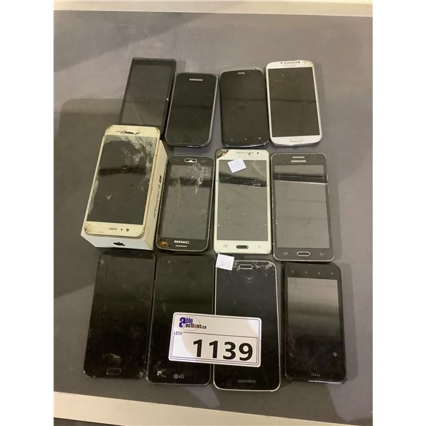 ASSORTED CELLPHONES FOR REPAIR