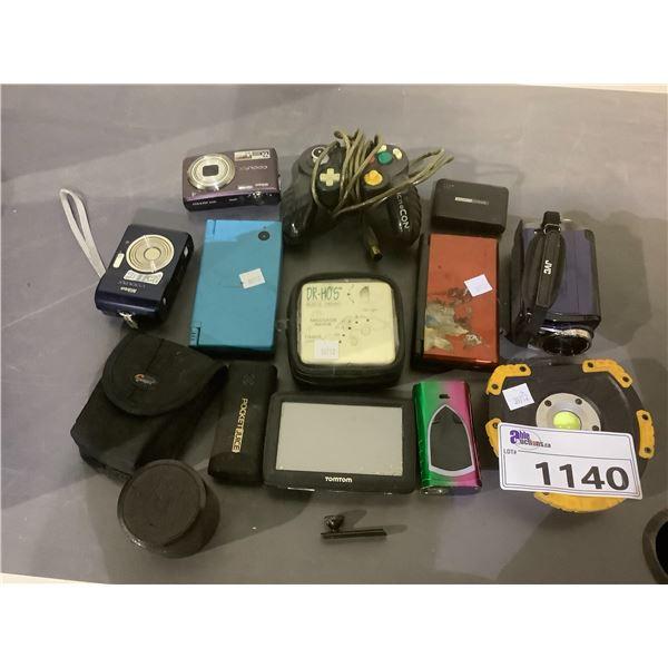 ASSORTED ELECTRONICS INCLUDING: NINTENDO DS, TOMTOM, CAMERAS, AND MORE