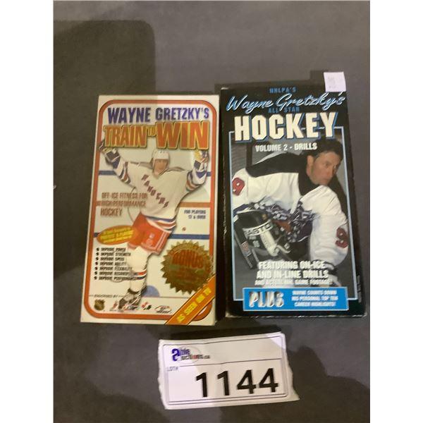 2 WAYNE GRETZKY VHS TAPES