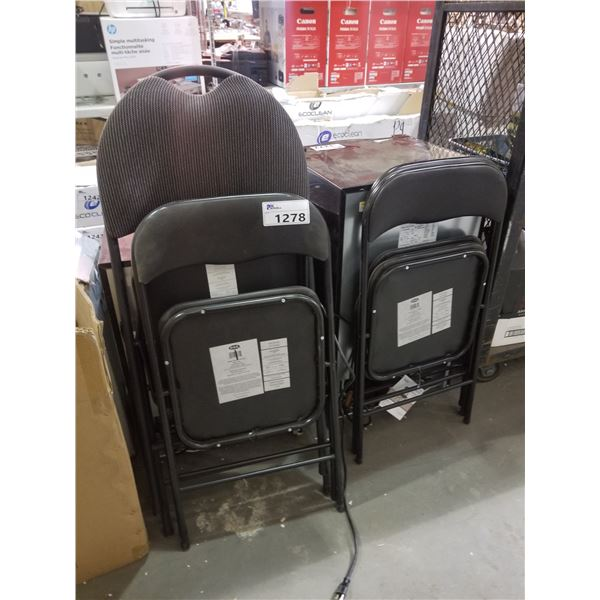 4 ASSORTED BLACK FOLDING CHAIRS