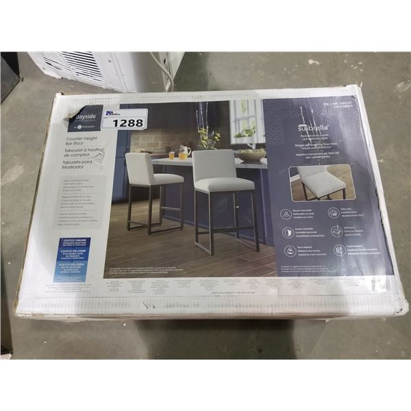 BAYSIDE COUNTER HEIGHT BAR STOOLS (IN BOX)