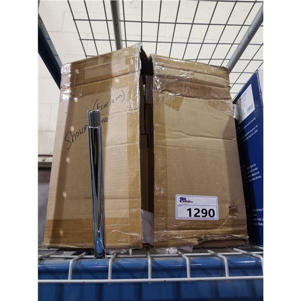 "BOX OF 10"" CHROME PLUMBING PIPE"