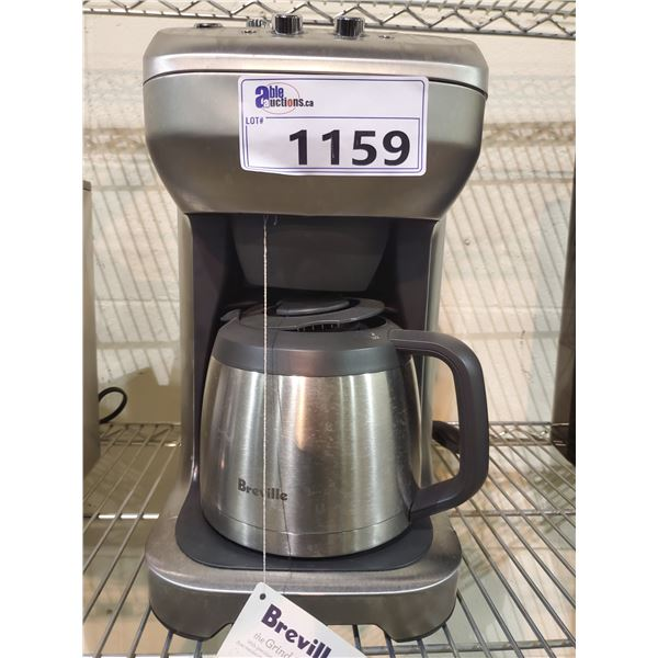 BREVILLE STAINLESS STEEL COFFEE MAKER WITH GRIND CONTROL