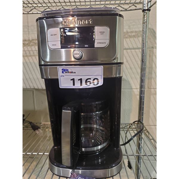 CUISINART FULLY AUTOMATIC BURR GRIND & BREW 12-CUP COFFEE MAKER