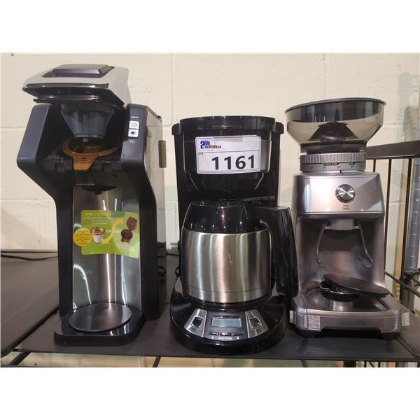 3 ASSORTED COFFEE MACHINES