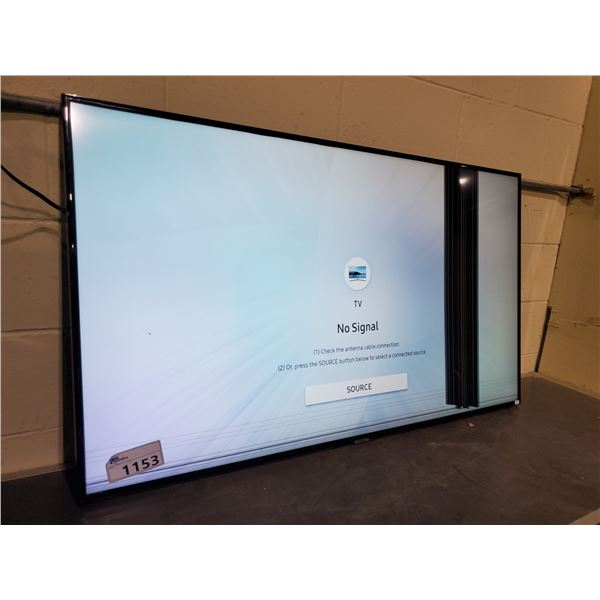 """SAMSUNG 55"""" 6-SERIES UHD TV LINES IN SCREEN, FOR PARTS OR REPAIR"""