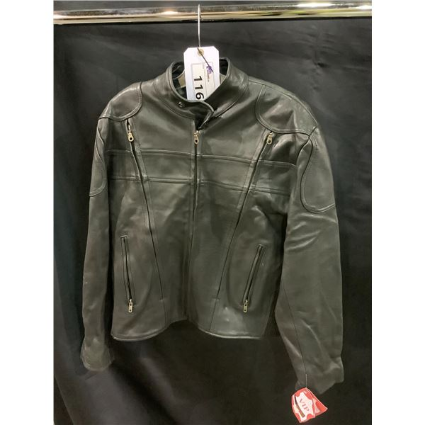 NEW WITH TAGS VIP LEATHERS CANADA LEATHER JACKET RETAIL $595 MODEL BIK-153 LAMBSKIN SIZE UNKNOWN