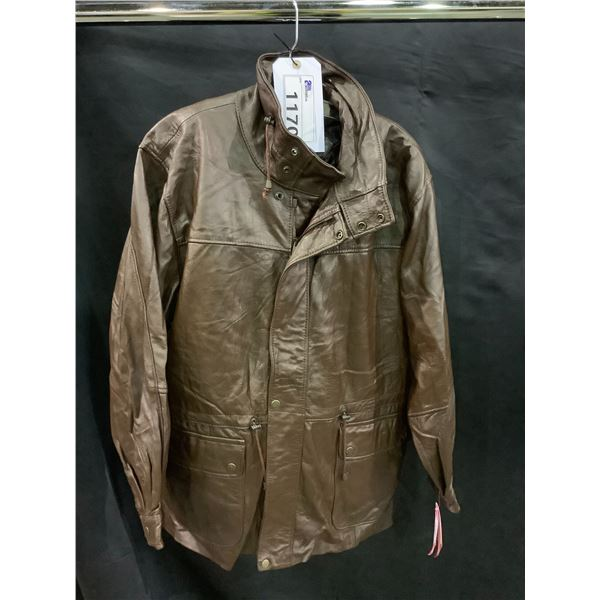 NEW WITH TAGS VIP LEATHERS CANADA LEATHER JACKET RETAIL $595 LAMBSKIN SIZE S