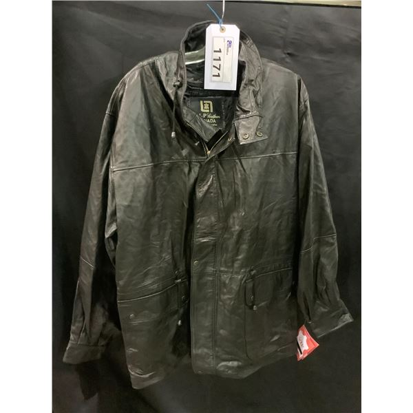 NEW WITH TAGS VIP LEATHERS CANADA LEATHER JACKET SIZE L LAMBSKIN