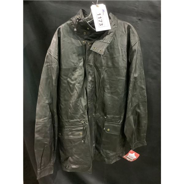 NEW WITH TAGS VIP LEATHERS CANADA LEATHER JACKET LAMBSKIN SIZE XL RETAIL $599