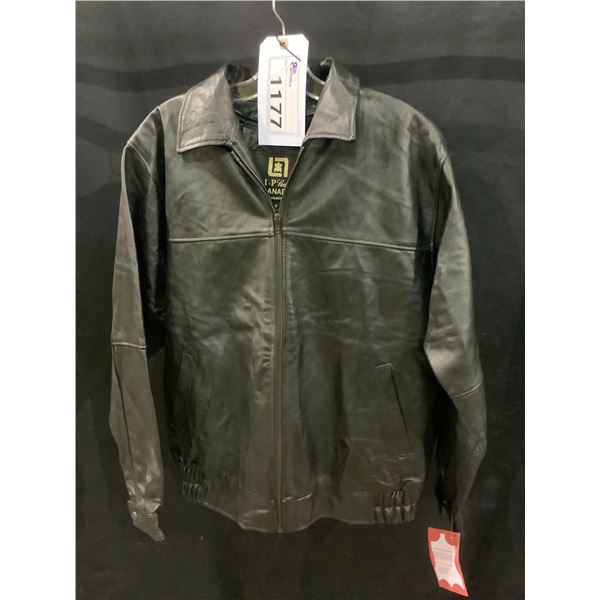NEW WITH TAGS VIP LEATHERS CANADA LEATHER JACKET LAMBSKIN SIZE M MODEL 125-132