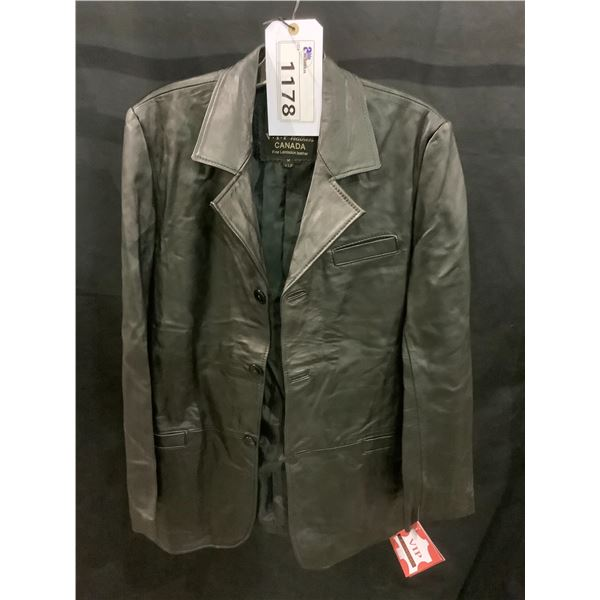 NEW WITH TAGS VIP LEATHERS CANADA LEATHER JACKET LAMBSKIN SIZE M RETAIL $595