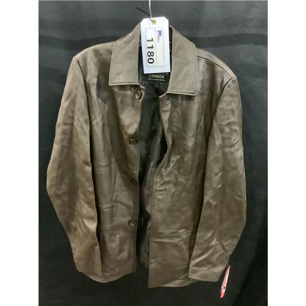 NEW WITH TAGS VIP LEATHERS CANADA LEATHER JACKET LAMBSKIN SIZE M RETAIL $399 MODEL 227-262