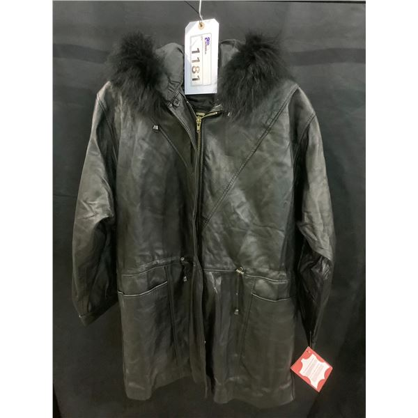 NEW WITH TAGS VIP LEATHERS CANADA LEATHER JACKET LAMBSKIN SIZE M RETAIL $695
