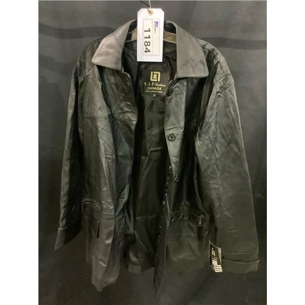 NEW WITH TAGS VIP LEATHERS CANADA LEATHER JACKET LAMBSKIN SIZE XXL RETAIL $450