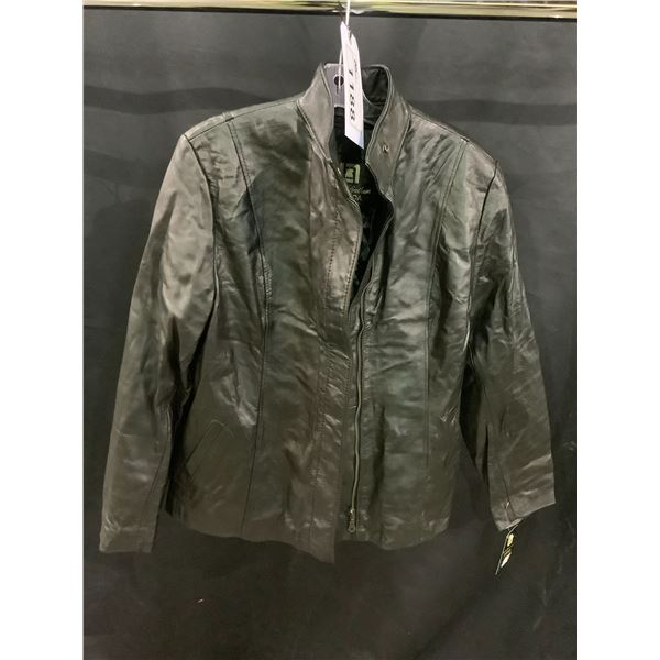 NEW WITH TAGS VIP LEATHERS CANADA LEATHER JACKET LAMBSKIN SIZE XL RETAIL $445.99