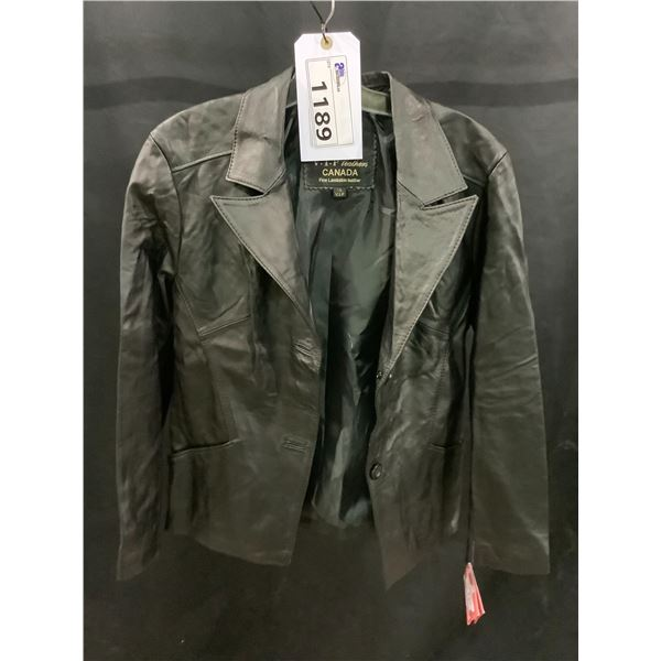 NEW WITH TAGS VIP LEATHERS CANADA LEATHER JACKET LAMBSKIN SIZE XL RETAIL $395.95