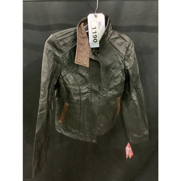 NEW WITH TAGS VIP LEATHERS CANADA LEATHER JACKET LAMBSKIN SIZE M MODEL 060-132