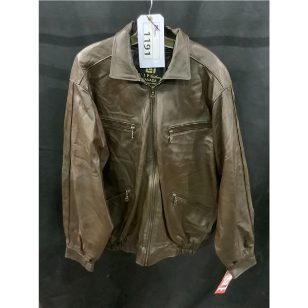 NEW WITH TAGS VIP LEATHERS CANADA LEATHER JACKET LAMBSKIN SIZE XL RETAIL $595 MODEL 143-252