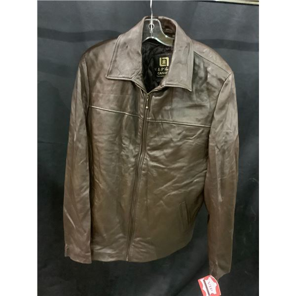 NEW WITH TAGS VIP LEATHERS CANADA LEATHER JACKET LAMBSKIN SIZE XL RETAIL $495 MODEL 125-252