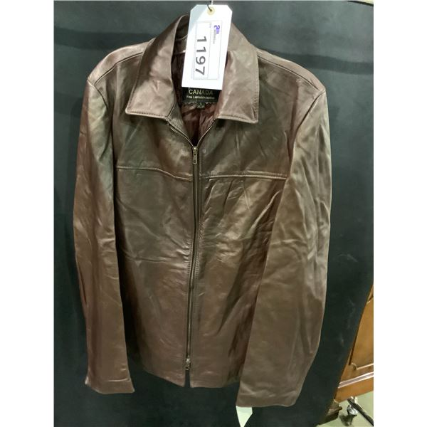NEW WITH TAGS VIP LEATHERS CANADA LEATHER JACKET LAMBSKIN SIZE L RETAIL $495.99