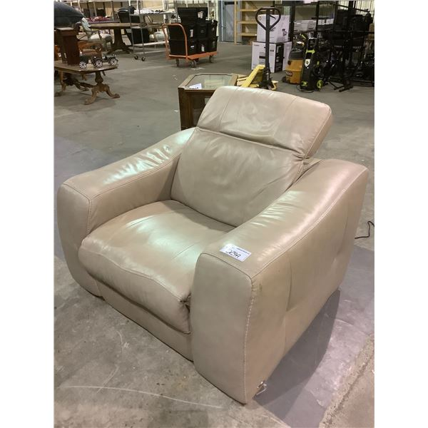 LEATHER ELECTRIC RECLINER SOME COSMETIC ISSUES