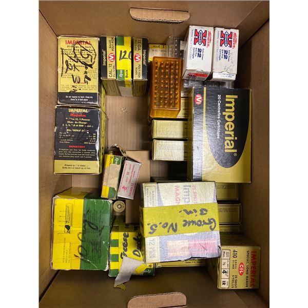 RIFLE & SHOTGUN AMMUNITION IN BOXES; 12GA & 410GA, 300 WIN, 308 WIN, 30-06, 303 BRITISH, .22 CAL
