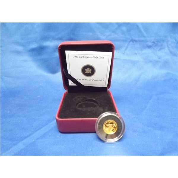 2011 RCM pure gold coin. 1/25ounce (D&M)