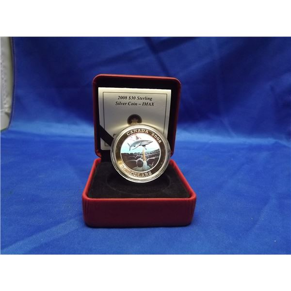 2008 RCM 30 dollar sterling silver coin. IMAX (D&M)