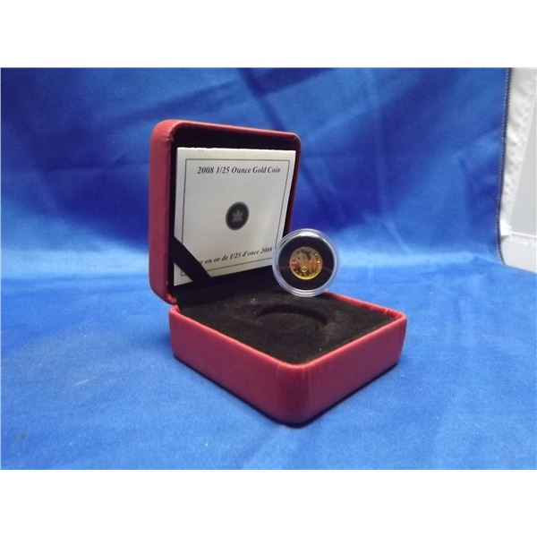 2008 RCM pure gold coin. 1/25 ounce (D&M)