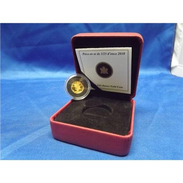 2010 RCM 50 cent coin.125 ounce gold coin (D&M)