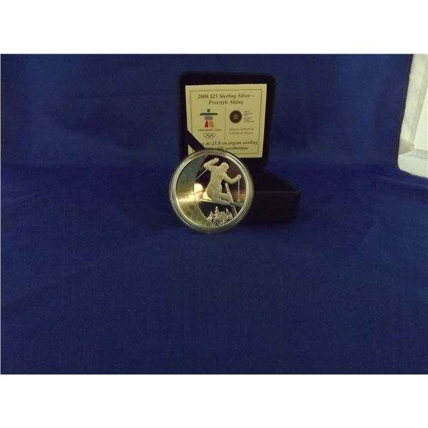 2008 RCM Sterling silver 25 dollar coin. Hologram. Vancouver olymipics (D&M)