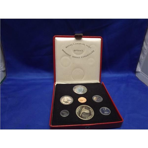 1967 RCM centennial proof set. Beautiful rainbow toning on silver coins. (D&M)