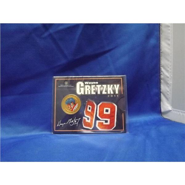 2011  RCM 25 cent Wayne Gretzky colored coin (D&M)
