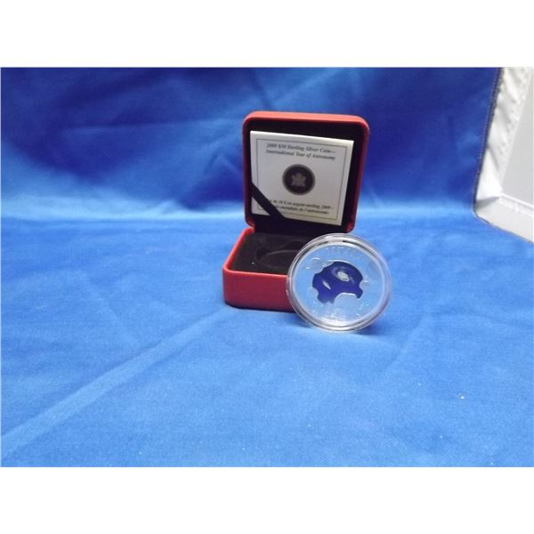 2009 RCM 30 dollar sterling silver colored coin international year of astronomy (D&M)