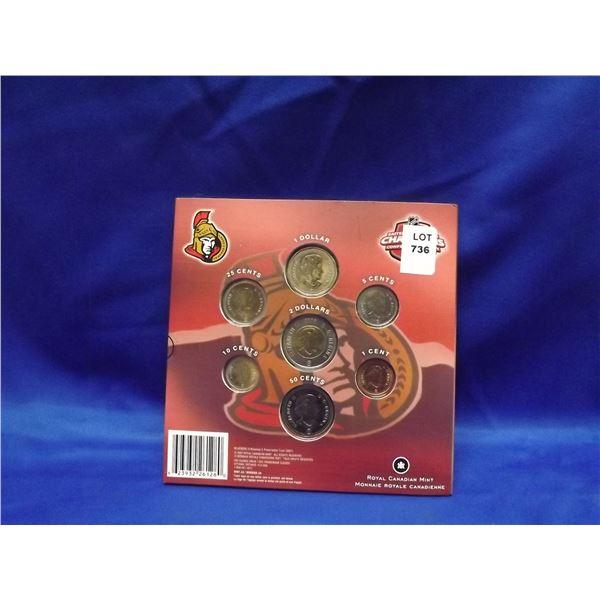 2008 RCM Ottowa Senators commemorative coin set (D&M)