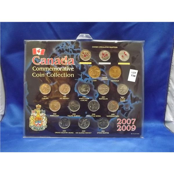 2007 - 2009 RCM Canadian Commemorative coin collection. Winter games (D&M)