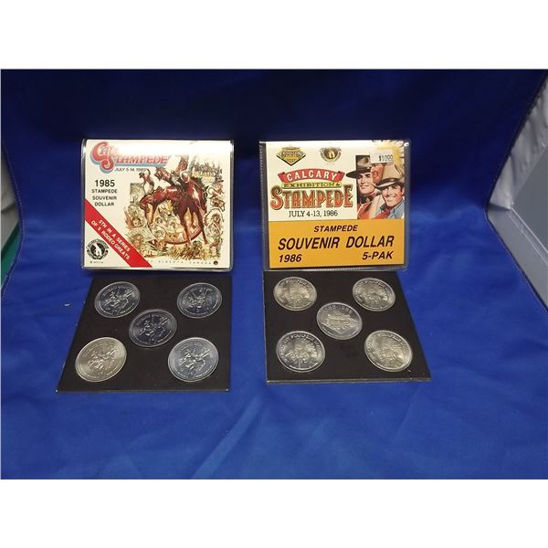 1985 & 1986 Calgary Stampede coin collection (D&M)
