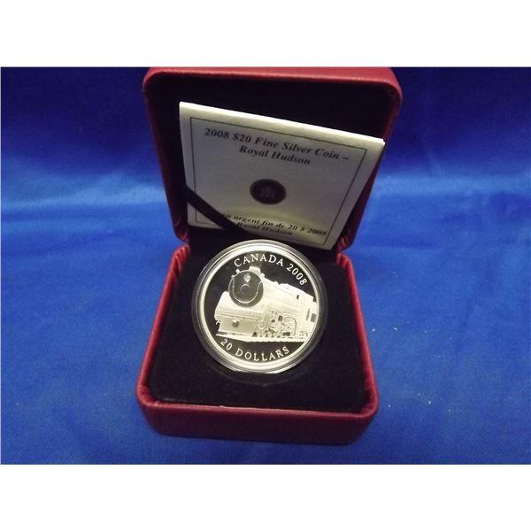 2008 RCM 20 dollar fine silver coin Royal Hudson (D&M)