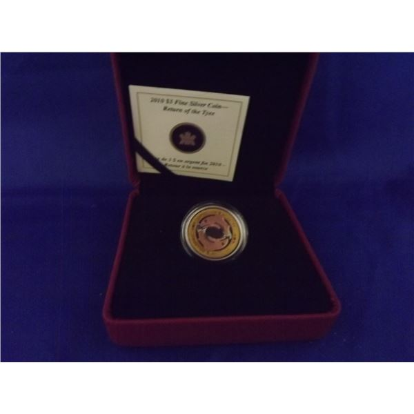 2010 RCM 3 dollar coin fine silver yellow and pink gold plated (D&M)