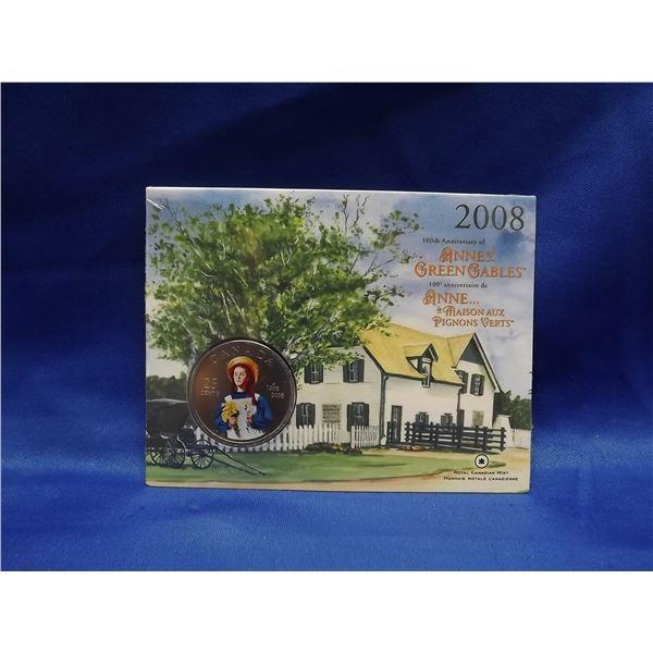 2008 25cent coin. Hundredth anniversary of Anne of Greene Gables (D&M)