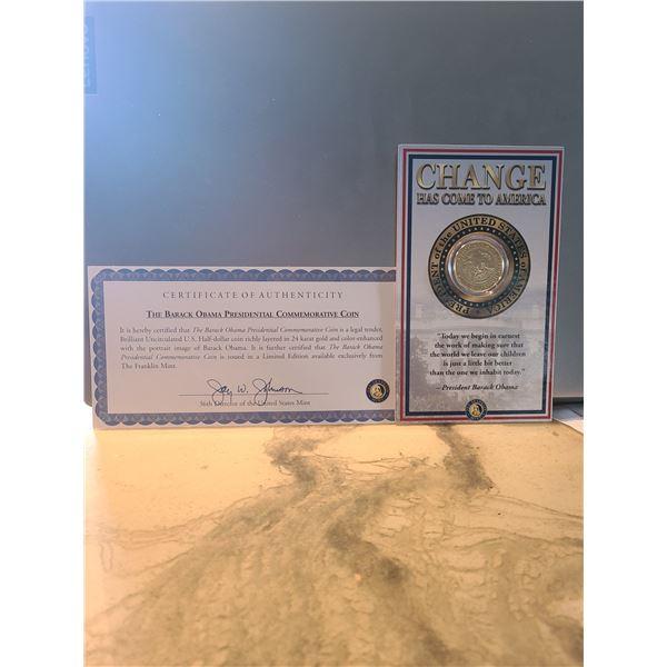 2008 Barak Obama Presidental commemorative coin (D&M)