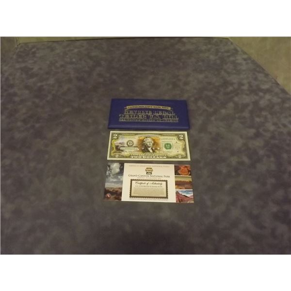 United States $2 commemorative bank note. Crips. Uncirculated. (D&M)
