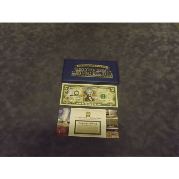 United States $2commemorative bank note. Crips. Uncirculated. (D&M)