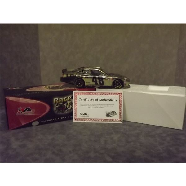 Jimmie Johnson #48 Lowe's 2007 Monte Carlo SS Color Chrome Lionel Nascar Diecast with certificate of