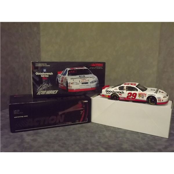 Kevin Harvick #29 GM Goodwrench Service plus 2001 Monte Carlo Clear Windo Bank Nascar Diecast (D&M)