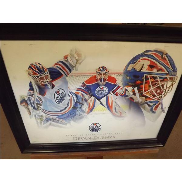 Framed Devan Duvnyk Edmonton Oilers Poster (D&M)