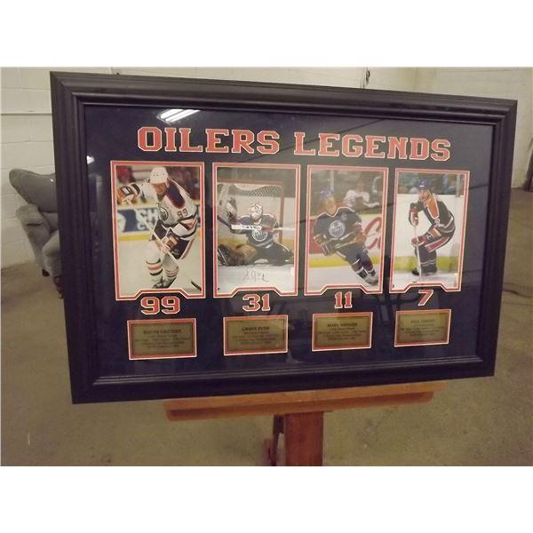 Framed Edmonton Oilers Legends (D&M)