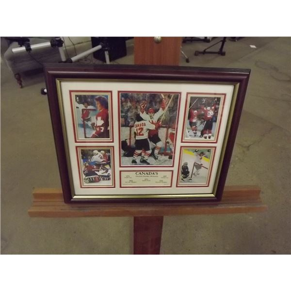 Canada's Greatest Hockey Moments 1972,1976,1987,2002,2010 Photos with certificate of authenticity (D